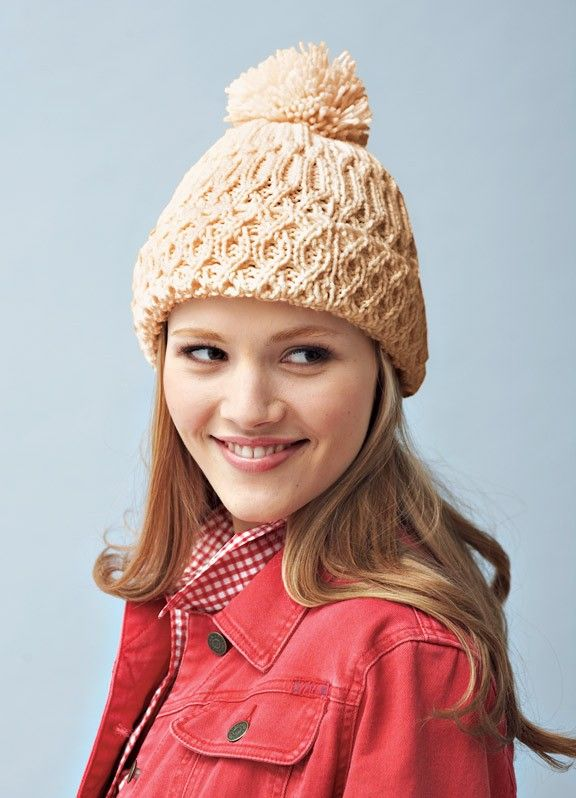 Follow this free knit pattern to create a hat using Bernat Satin ...