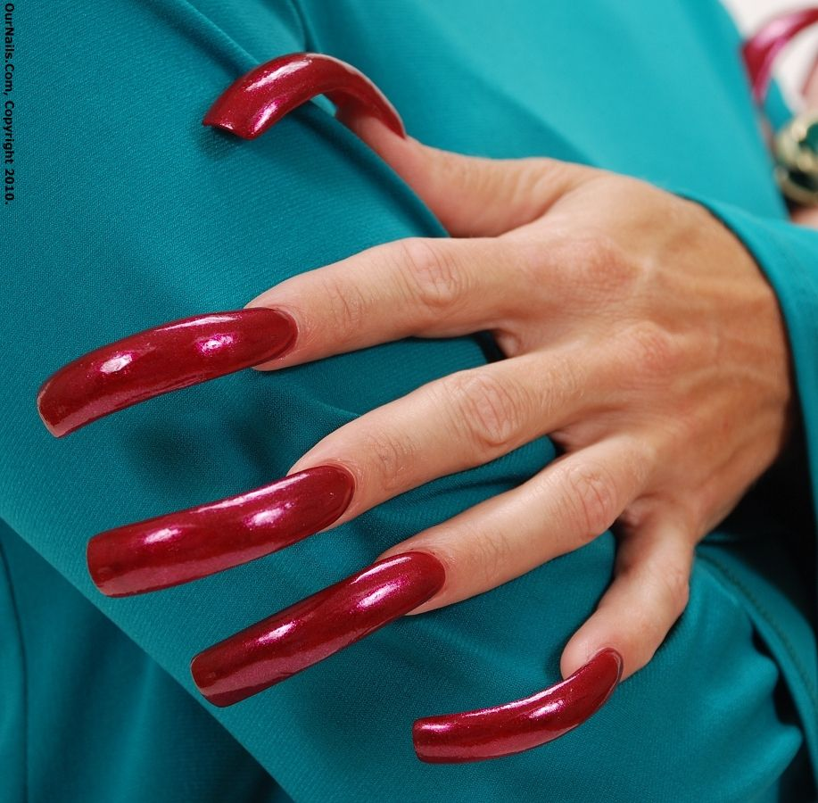 Red long nails | 1. Double Team + Dynamicpunch Amazing ...