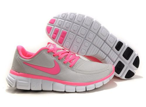 New Arrival Nike Free 5.0 V4 2012 Womens Running Shoes Grey Pink Outlet