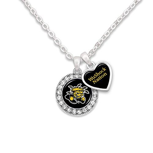 New! Wichita State Shockers Logo and Heart Shaped Charm