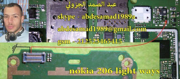 Nokia 206 Display Light Solution Lcd Jumper Problem Ways Light Display Nokia Lcd