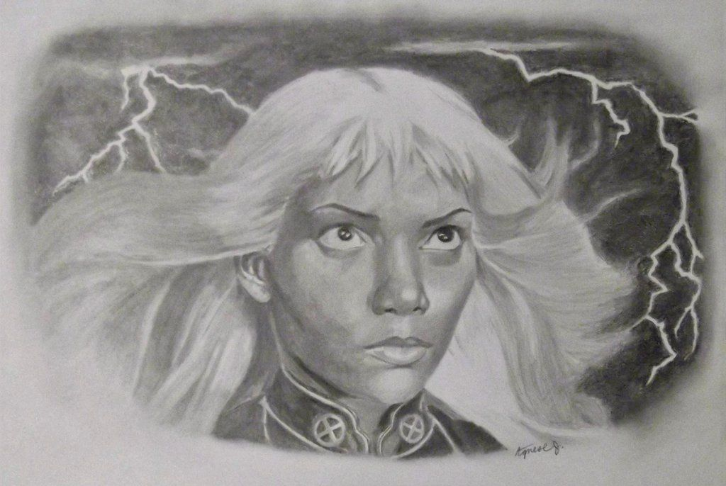 X mens storm pencil drawing