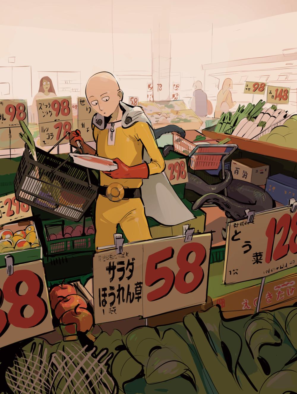 One Punch Man Saitama ワンパンマン, サイタマ