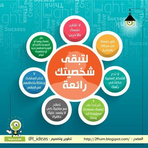 لتبقى شخصيتك رائعة انفوجرافيك Positive Notes Learning Websites Life Skills Activities