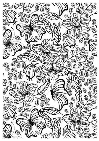 раскраска релакс - Цветы и Бабочки для раскрашивания ...