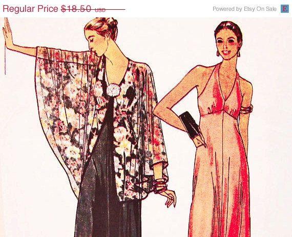 on SALE Butterick 1980s Halter Dress by PatternsFromThePast