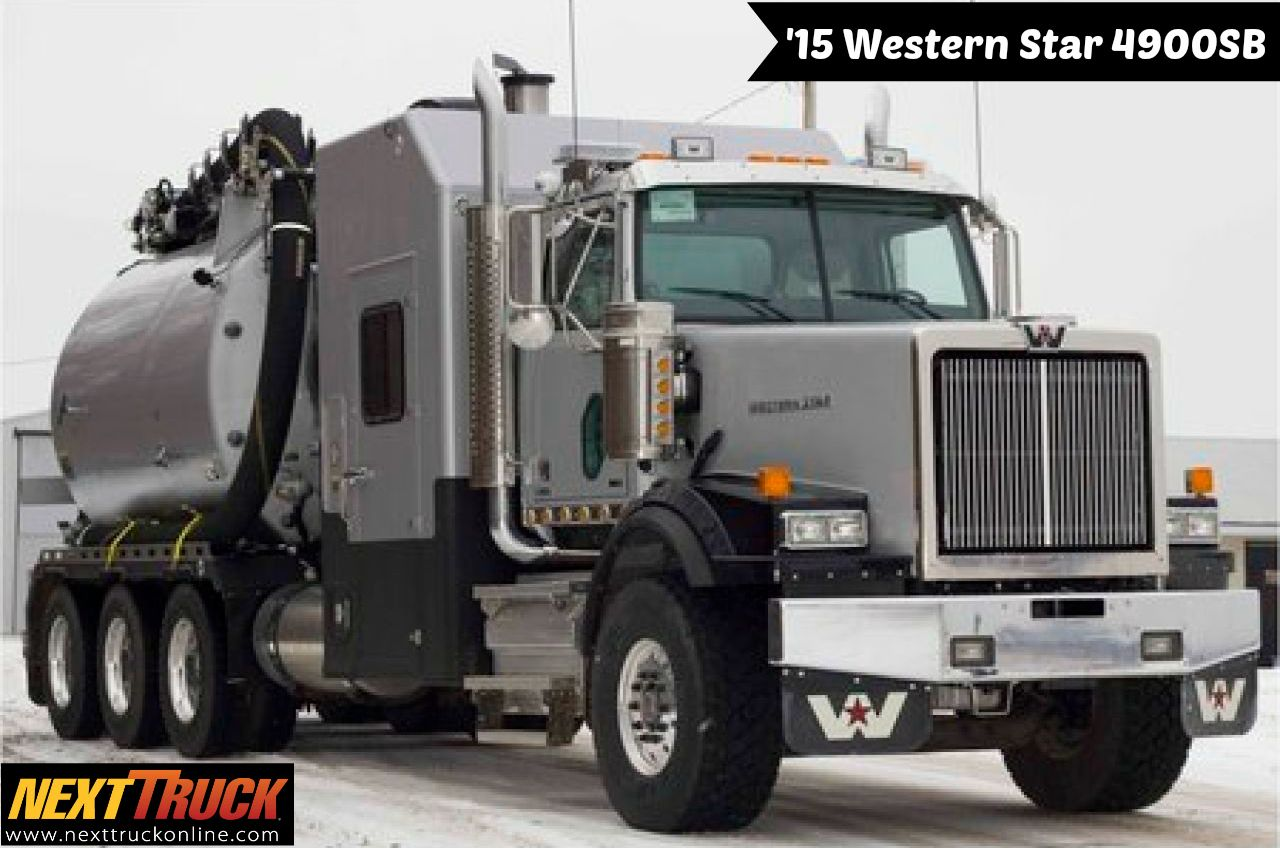Our Featured Truck Is 2015 Western Star 4900sb Vacuum Truck
