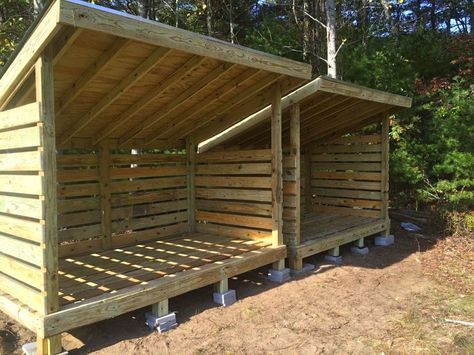Firewood Storage Sheds To Store Wood For Winter From East