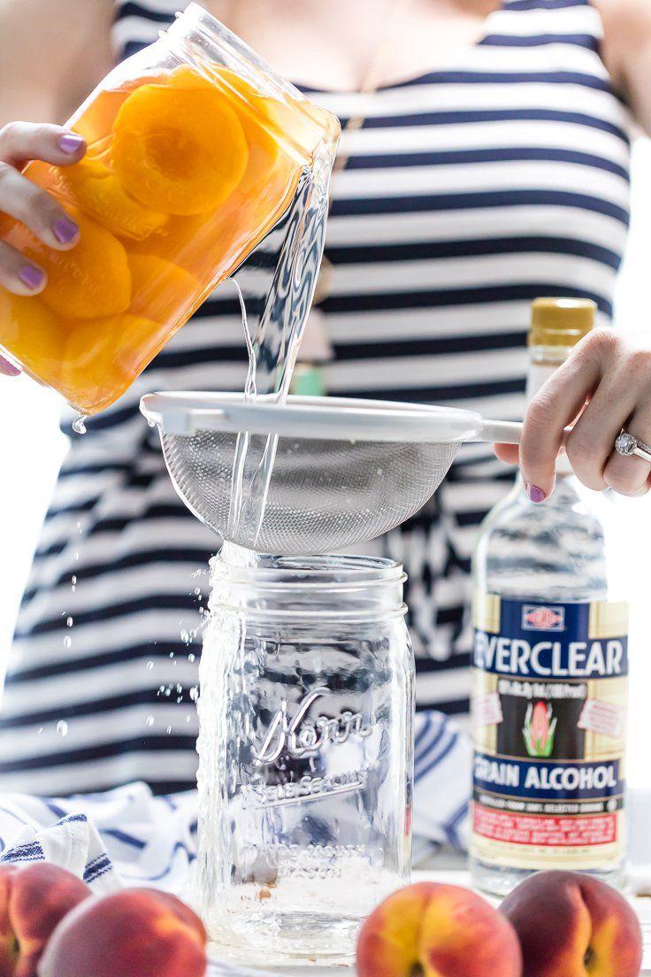 homemade peach tea vodka is an easy and fun diy liqueur easily made