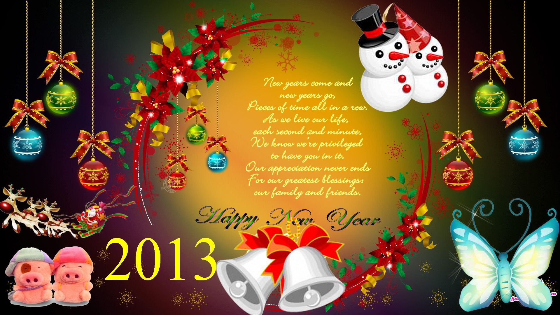 Christmas Gifts And Celebrations Happy New Year 2013