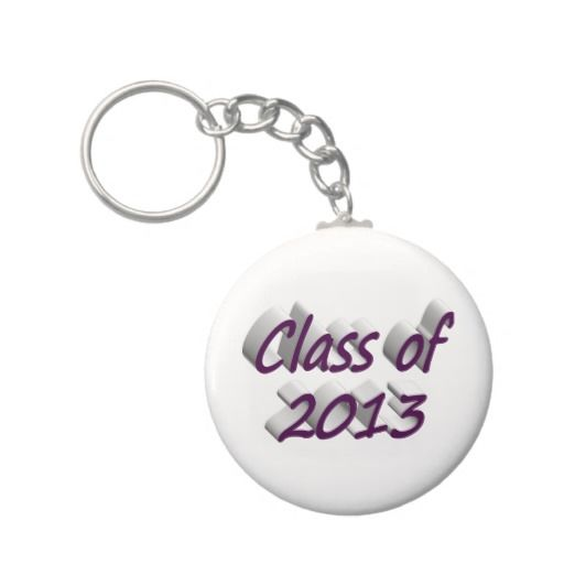 Class of 2013 3D Key Chains, Dark Violet