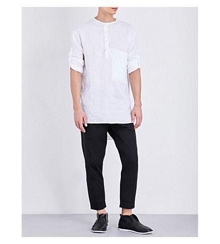ISABEL BENENATO Patch Pocket Linen Tunic. #isabelbenenato #cloth #tops & t-shirts