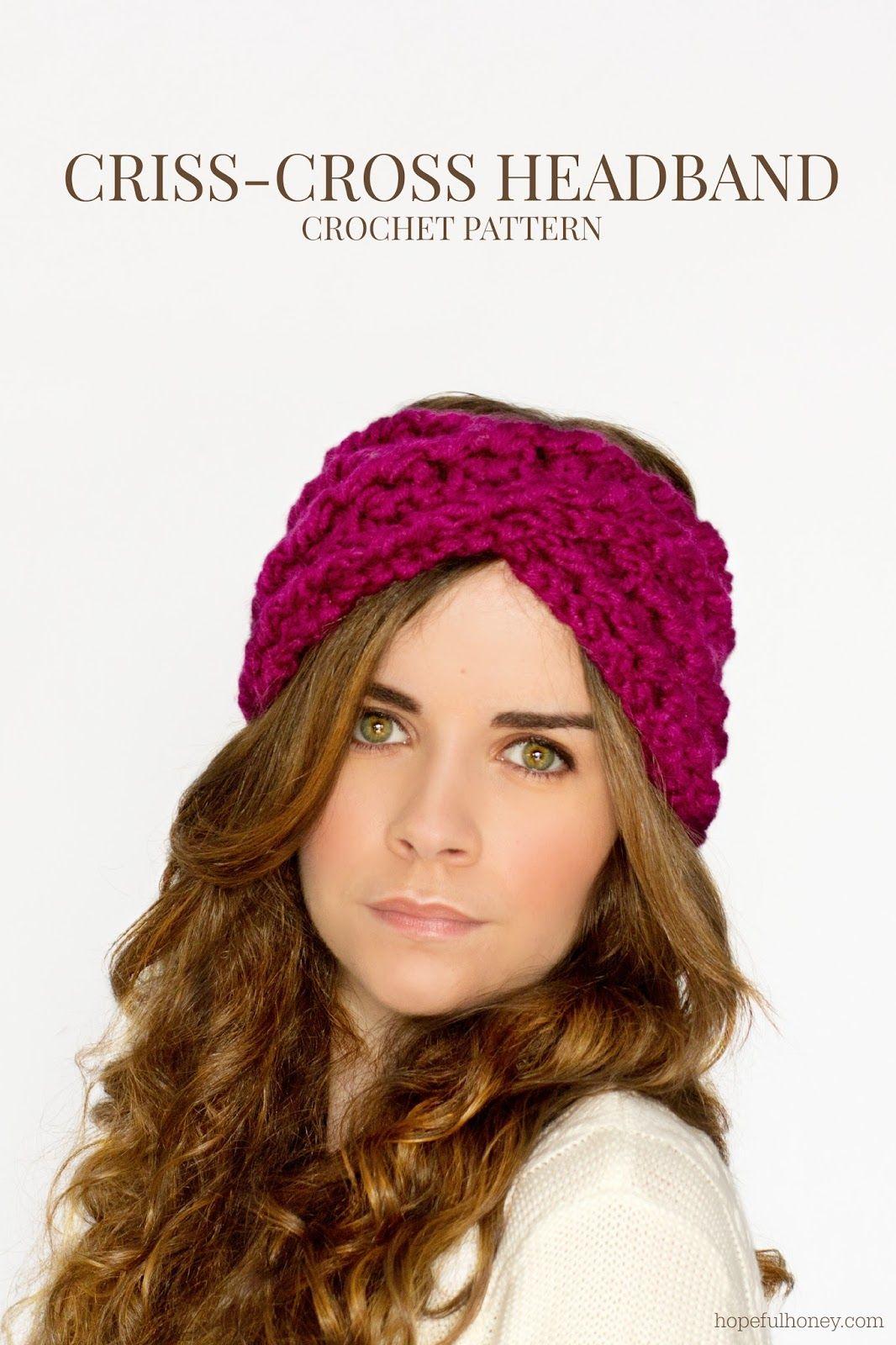 Chunky Criss-Cross Headband Crochet Pattern | Cruzado, Miel y Ganchillo
