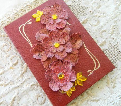 Irit shalom shows us how to make a beautiful upcycled embellished irit shalom shows us how to make a beautiful upcycled embellished notebook with polymer clay flowers mightylinksfo