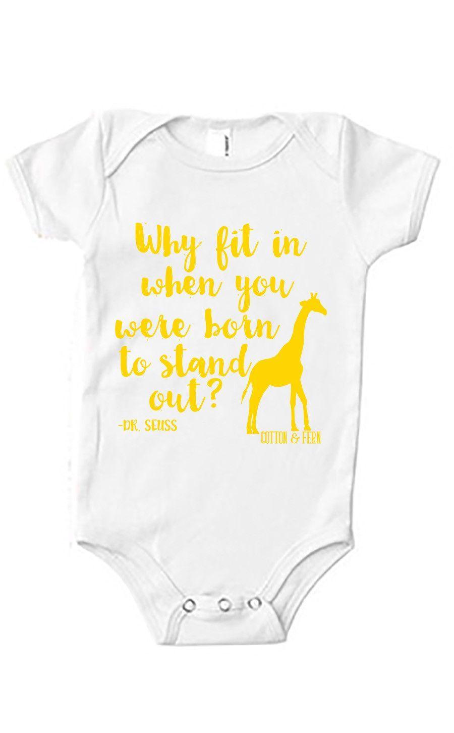 095510427 Stand Out Giraffe Baby Onesie Little Giraffe, Giraffe Baby, Baby Shirts,  Baby Onesie