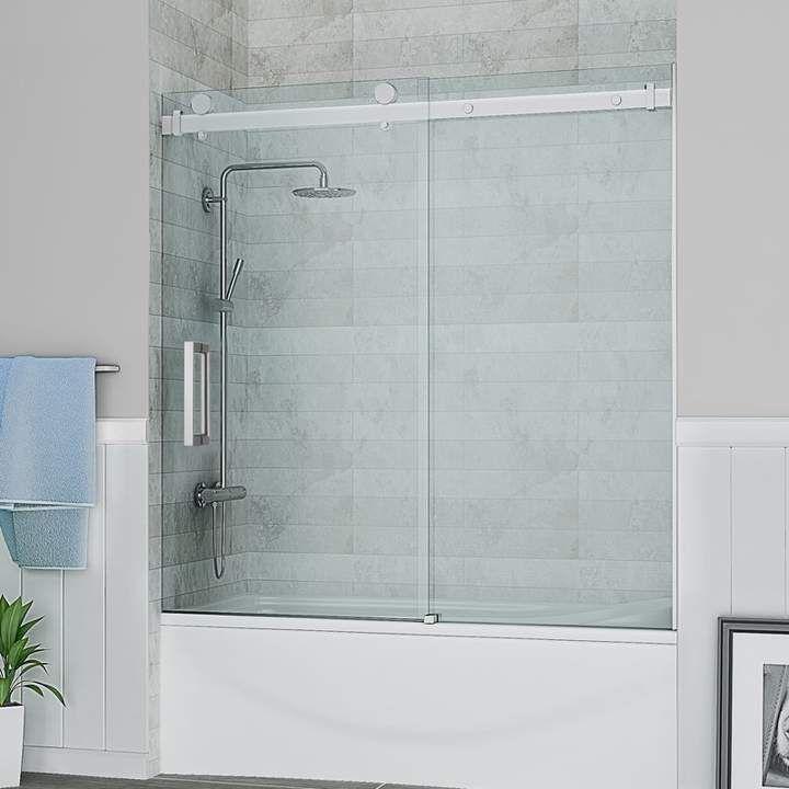Ove Decors Sierra 59 X 59 Single Sliding Tub Door Bathtub Doors Tub Doors Shower Doors