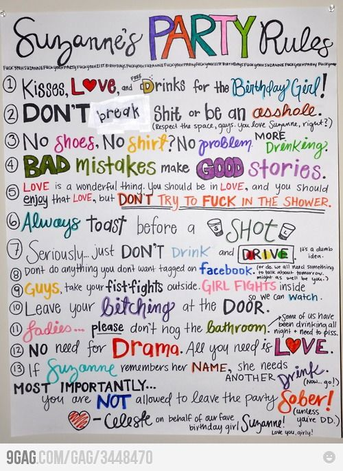 suzannes party rules life mottos party rules 21st birthday