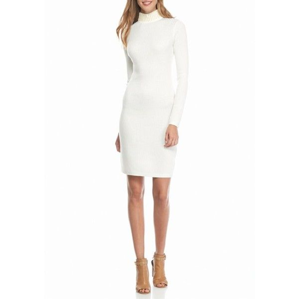 fd48a14784 Calvin Klein Winter White Pearl Neck Sweater Dress - Women s ( 89) ❤ liked  on