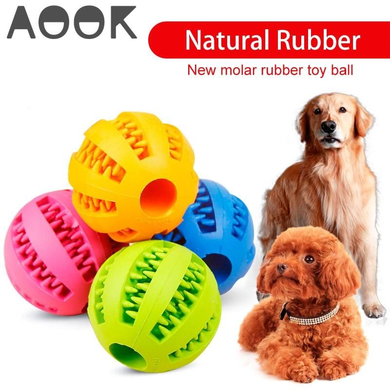 Aook Pet Dog Toy Interactive Rubber Balls Pet Dog Cat Puppy Chew