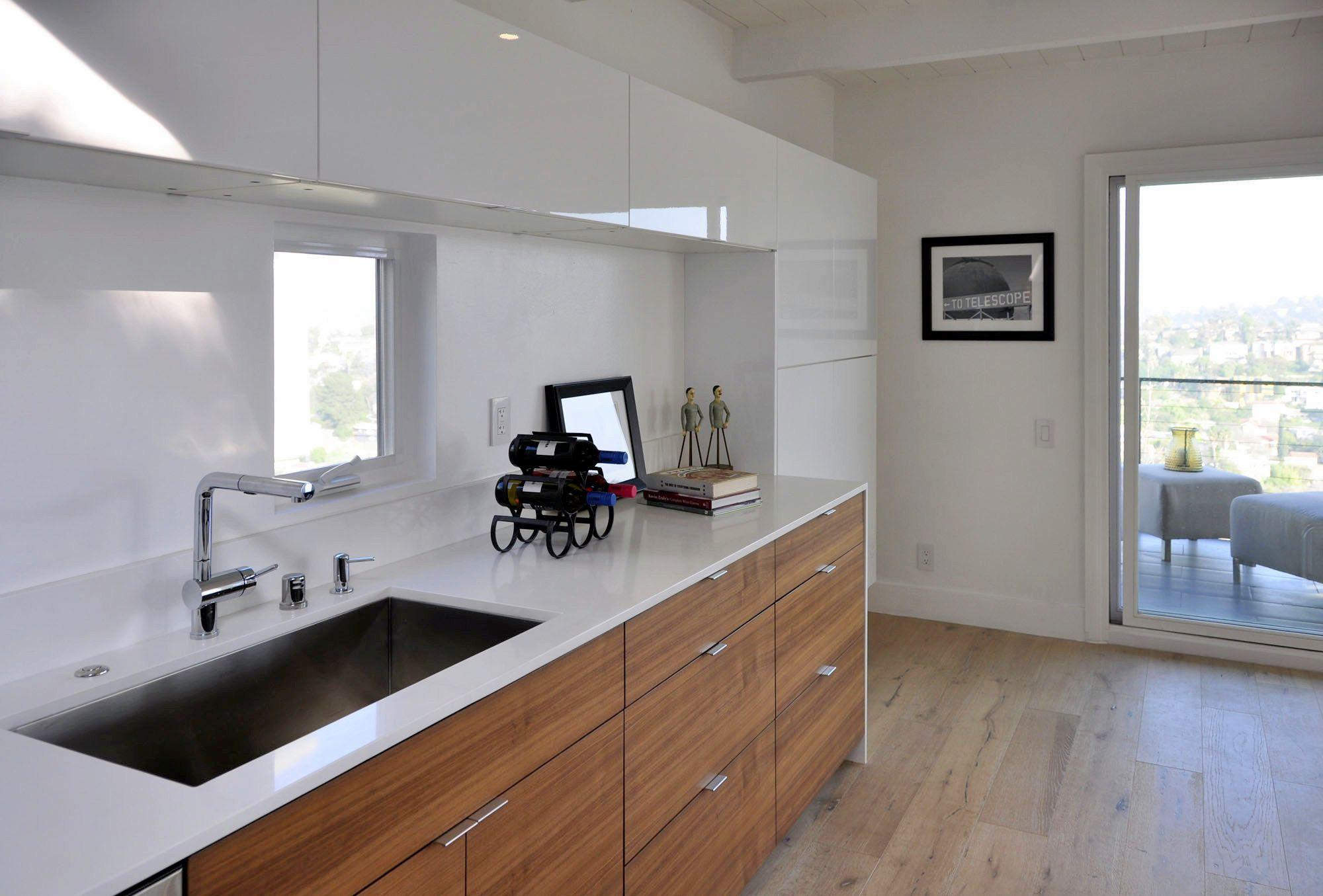 Ikea Kitchen With Semihandmade Flatsawn Walnut Fronts
