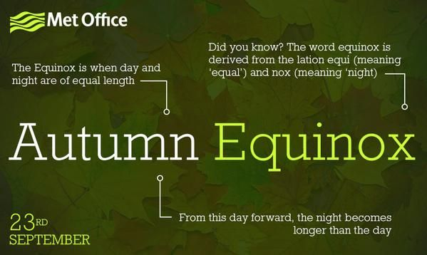 The Autumn Equinox is here!