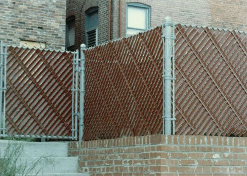 Slats that weave into chain link yahoo search results for Chain link privacy panels