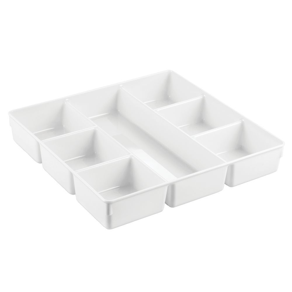 Plastic Dresser Drawer Organizer Tray 7 Sections In Charcoal By Mdesign In 2020 Plastic Dresser Plastic Drawer Organizer Dresser Drawer Organization