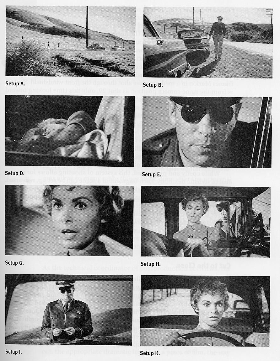 cinematographic techniques in psycho Psycho - posted in on screen: just watched hitchcock's psycho for the n'th time i always forget about the first couple of reels, before janet leigh hits the road but there are a couple of shots where she's driving through town and sees her boss crossing the road in front of her not sure if it's rear projection or mattes - but the effect.