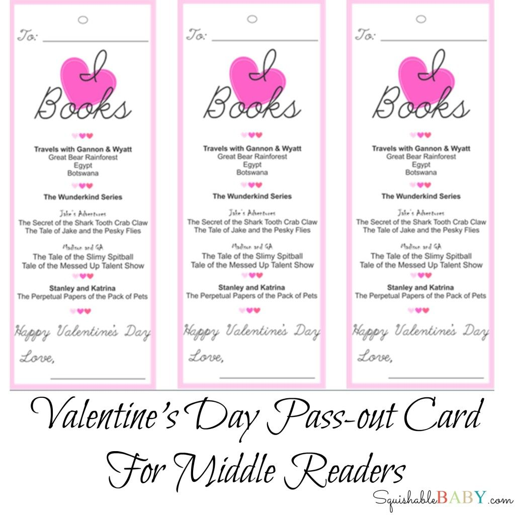 Valentine S Day Pass Out Card Printable For The Middle