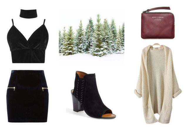 winter look by yseultdel on Polyvore featuring mode, Boohoo, Sandro, Franco Sarto and Acne Studios