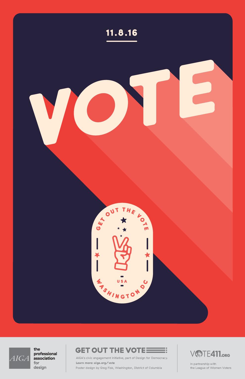 Peace America Graphic Design Print Political Posters Vote Poster