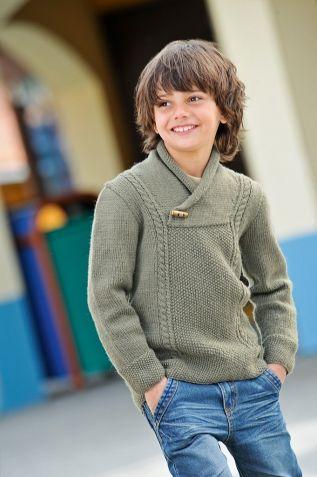 Пуловер для мальчика вязаный спицами - Мир петель