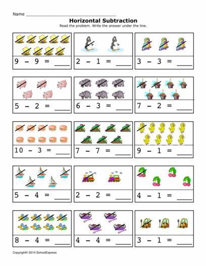 17000 Free Worksheets Kindergarten Subtraction Worksheets Free Kindergarten Worksheets Math For Kids Vertical subtraction worksheets for