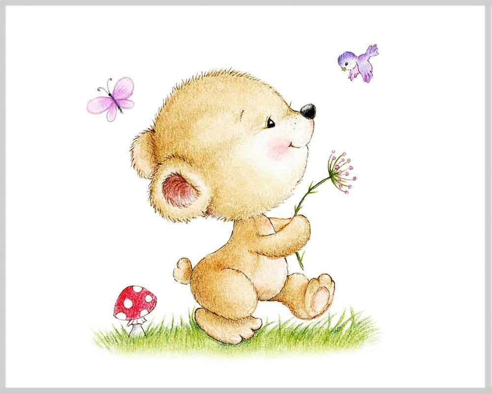 Teddy Bear Nursery Art Print, Children Wall Decor, Kids Wall Art ...