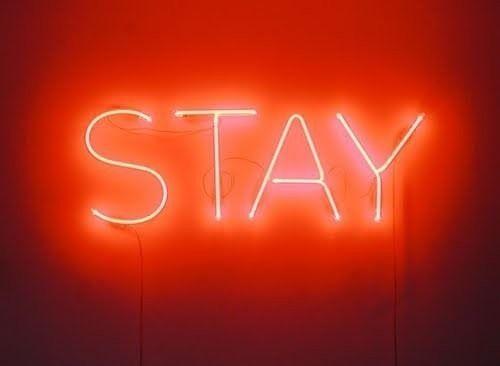 Words In Lights Neon Sign Stay Orange Aesthetic Neon Art Neon Signs