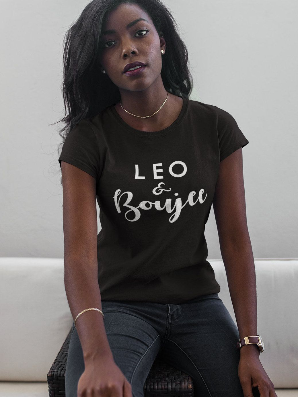 Leo And Boujee Womens T Shirt Born In July August Birthday Gift