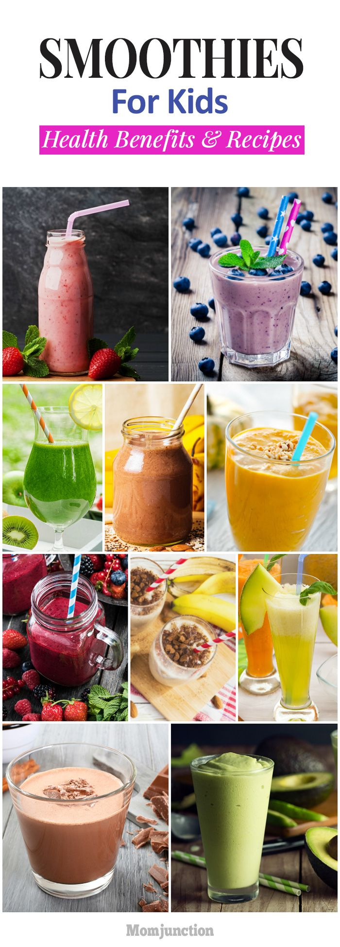 21 Easy And Healthy Smoothie Recipes For Kids #melonrecipes