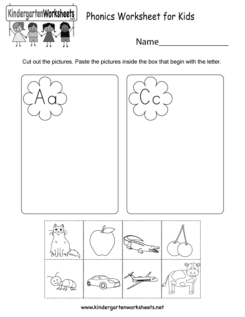 worksheet Phonics Worksheets For Kindergarten this is a fun phonics activity worksheet for preschoolers or kids free kindergarten english kids