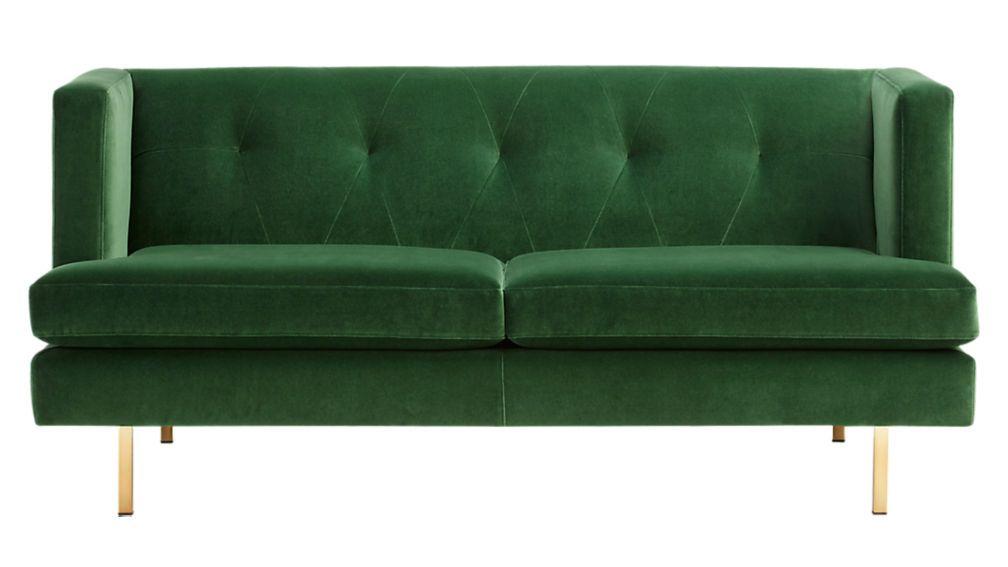 Avec Emerald Green Apartment Sofa With Brass Legs Apartment Sofa