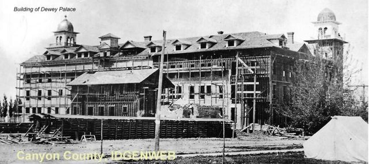 Dewey Palace Hotel In Nampa Idaho The Construction Of It Was Built By Colonel William A Silver Mining