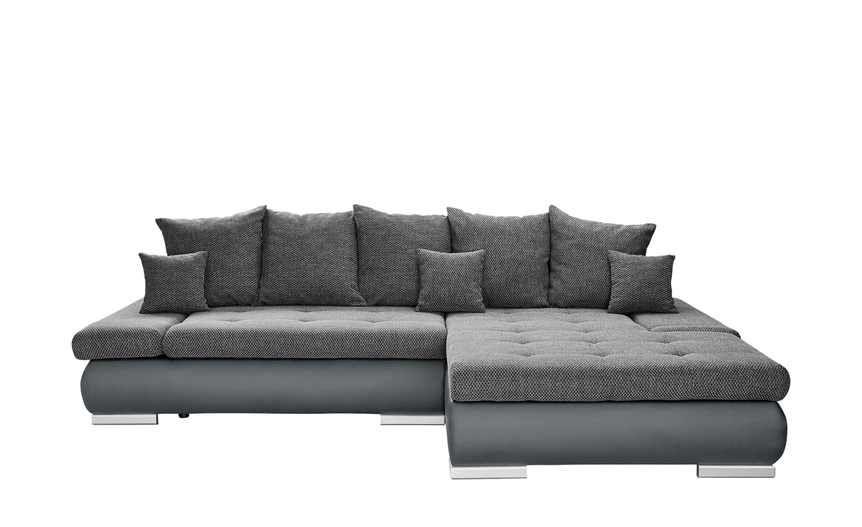 Switch Eckcouch Grau Schwarz Kunstleder Webstoff Ivan Eckcouch Couch Und Gunstige Sofas