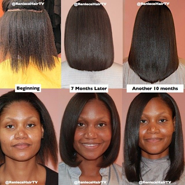 Reniece Hair Etc On Instagram Hair Growth And Length Retention With Sewn In Weaves As A Protective Relaxed Hair Growth Long Relaxed Hair Relaxed Hair Journey