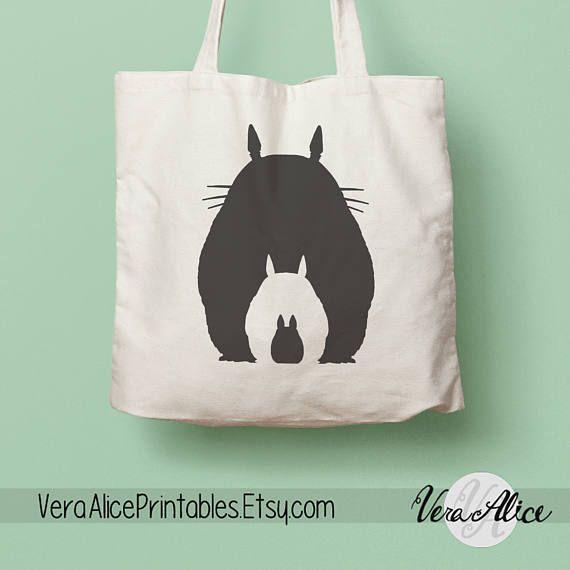 couple squirrel anime handbag zip lunch box bag storage gift recycle bag