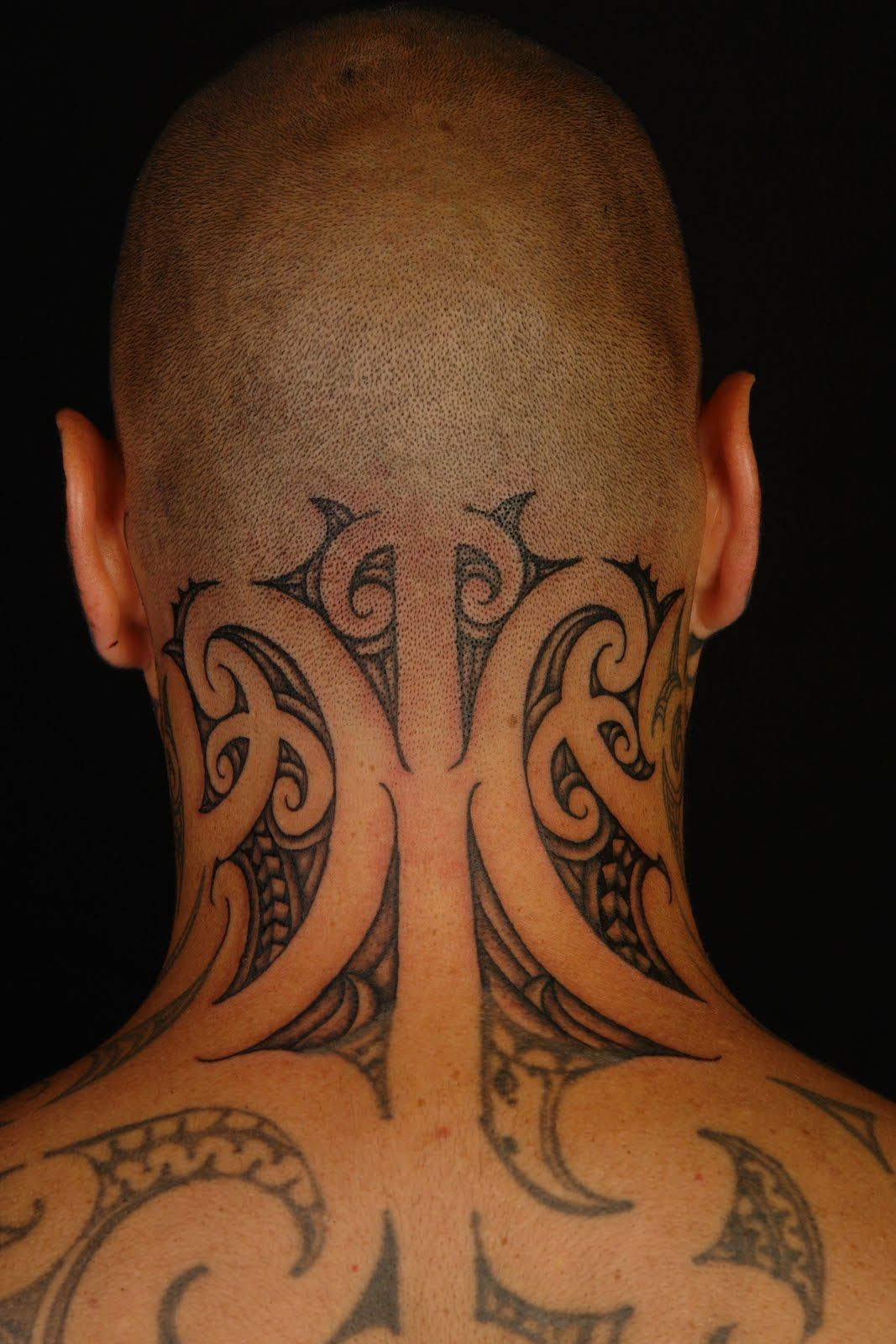Neck Tattoos MAORI POLYNESIAN TATTOO Tiki Taane Neck