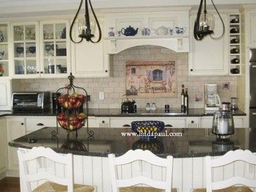 Black French Country Kitchen Cabinets French Country Kitchen with white Cabinets and Black granite by