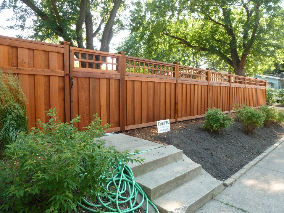 2012 New Fence By Dakota Unlimited Rosemount Mn Stained With Ready Seal In Redwood Fence Stain Backyard Makeover Redwood Fence