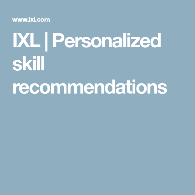 IXL   Personalized skill recommendations   Gio   Learning activities