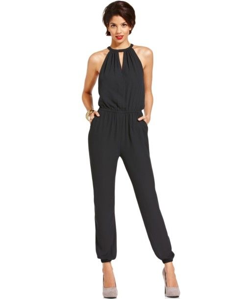 c3c9100e18b6 Marilyn Monroe Juniors Jumpsuit Sleeveless Cutout Harem