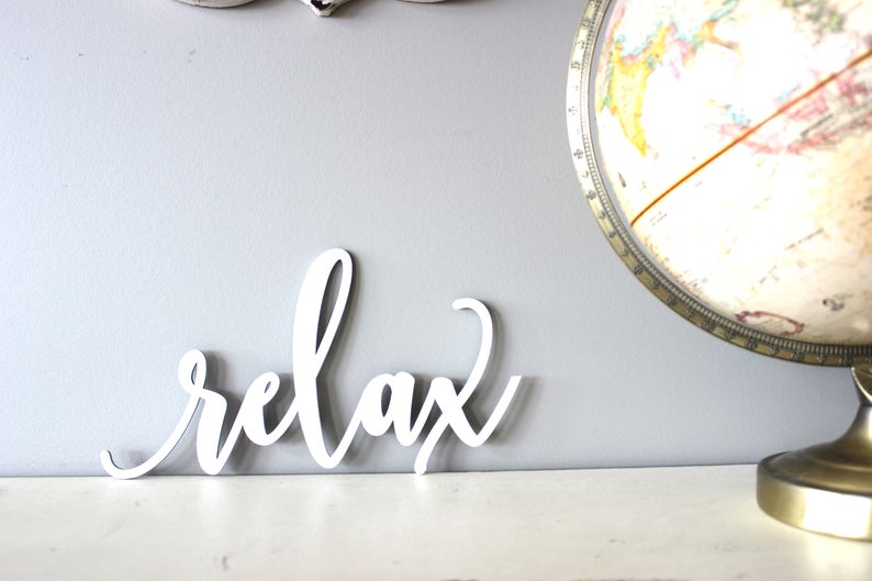 relax Sign // Wood relax Sign //porch decor // summer Decor //Rustic Wood Sign//Wood Sign //Wall Hanging//Home Decor // laser cut #relaxingsummerporches