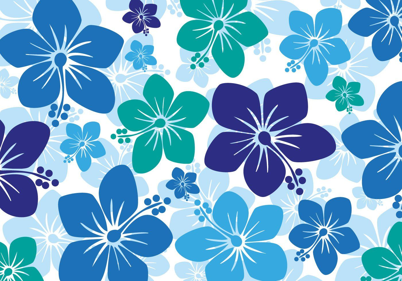 Free Hawaiian Hibiscus Background Vector | Graphic Design ...